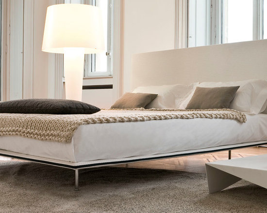 Thin Bed - A fabric or leather bed with a lightly padded wooden structure. Thin Bed has a removable cover. Great space saver due to its minimal profile. Contact info@casaspazio.com for more information.