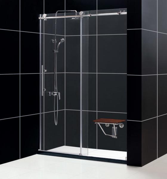 "ENIGMA-X 56""-60"" x 76"" Shower Door Polished Stainless Steel modern-showerheads-and-body-sprays"