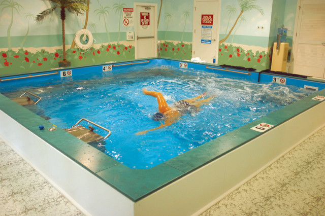 Dual propulsion endless pool hot tub and pool supplies for Endless pool in basement