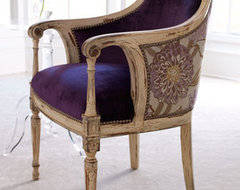 Dahlia Purple Chair traditional chairs