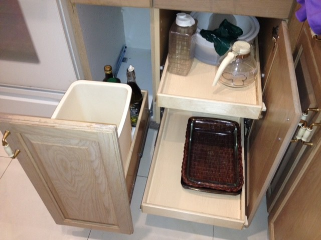 Kitchen Pull Out Shelves and Pull Out Trash Bin - Kitchen ...