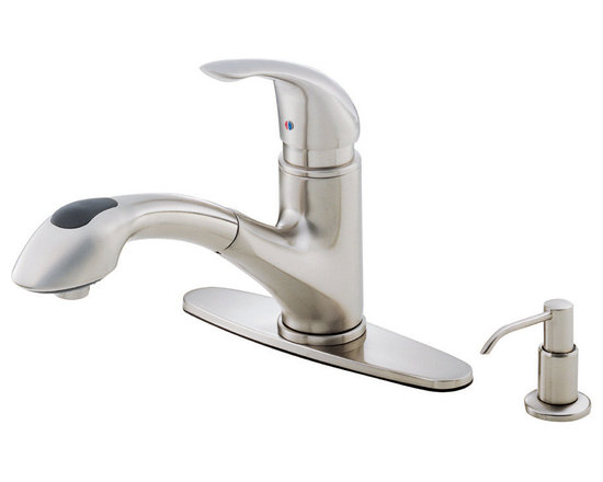 Danze Melrose™ Single Handle Pull-Out Kitchen Faucet - - 2 function spray/aerated stream.