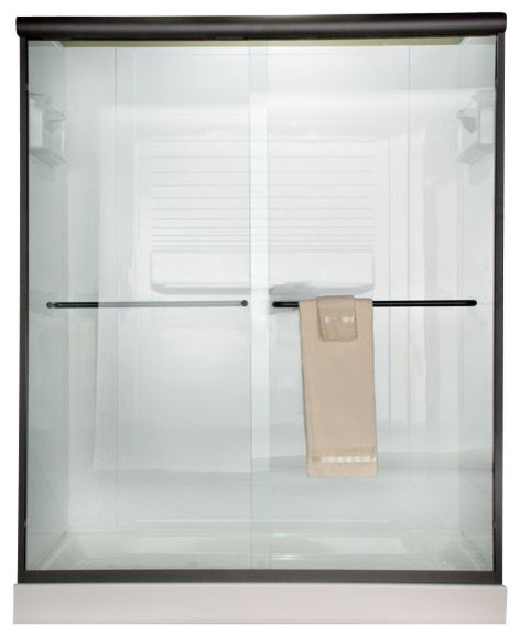 Euro 65 5inch Frameless By Pass Clear Shower Door For