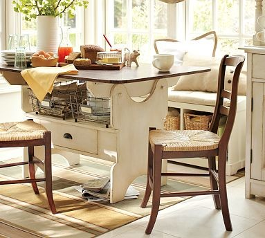 Cameron Fixed Dining Table Vintage White With Signature