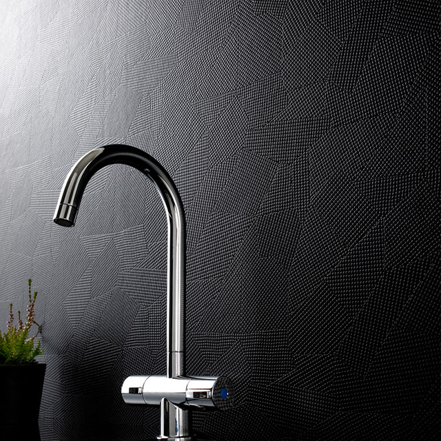 Graham and Brown Contour Puzzle Wallpaper - in Black modern-wallpaper