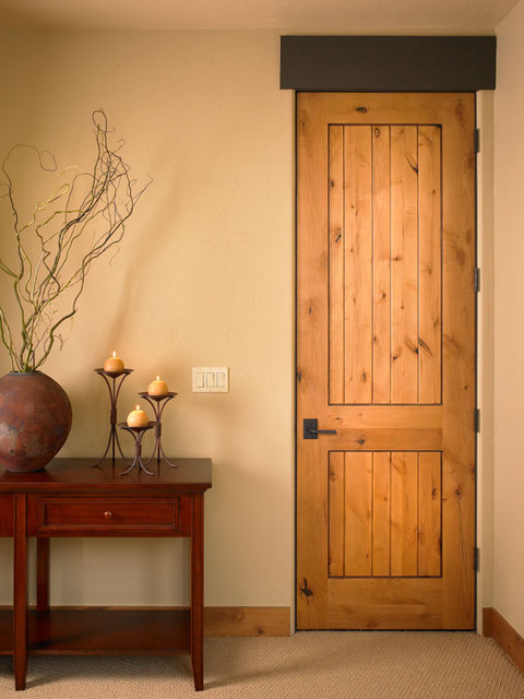 2 Panel Plank Door In Knotty Alder