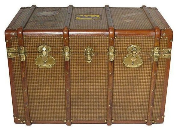 Early 20th Century French Steamer Trunk traditional-specialty-cookware