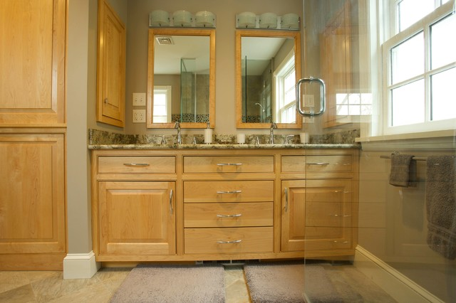 Hanover Bath With Maple Cabinets Burlington By Fine Woodwork And