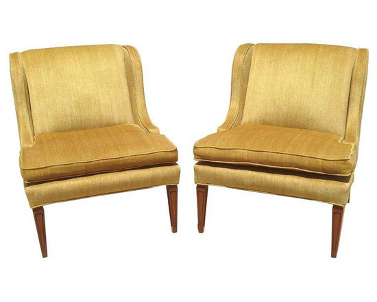 Gold Mid-Century Modern Chairs - A Pair - $2,200 Est. Retail - $1,500 on Chairis -