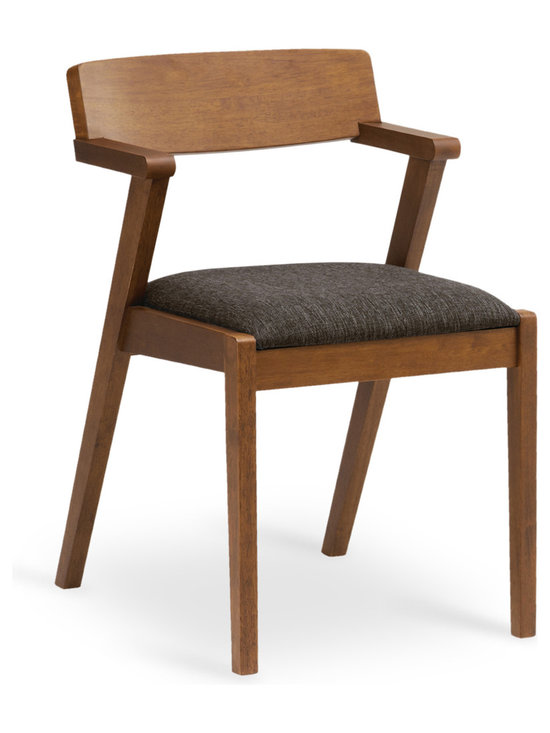 Bryght - Zola Liquorice Fabric Upholstered Cocoa Dining Chair - A trendy mid century modern design, the Zola dining chair beautifully fuses high style and good construction. Sleek, angular and curvy, the Zola chair is a trendy addition to any household.