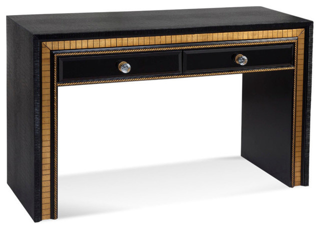 Bassett Mirror Villa Granada Console Table In Black Gold