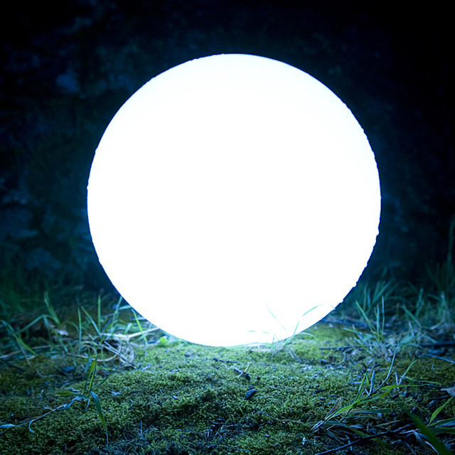 All-Weather 19.7-inch Cordless LED Globe contemporary-outdoor-lighting