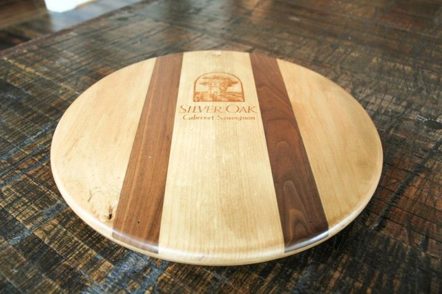 Reclaimed Wood Lazy Susan traditional-pantry-and-cabinet-organizers
