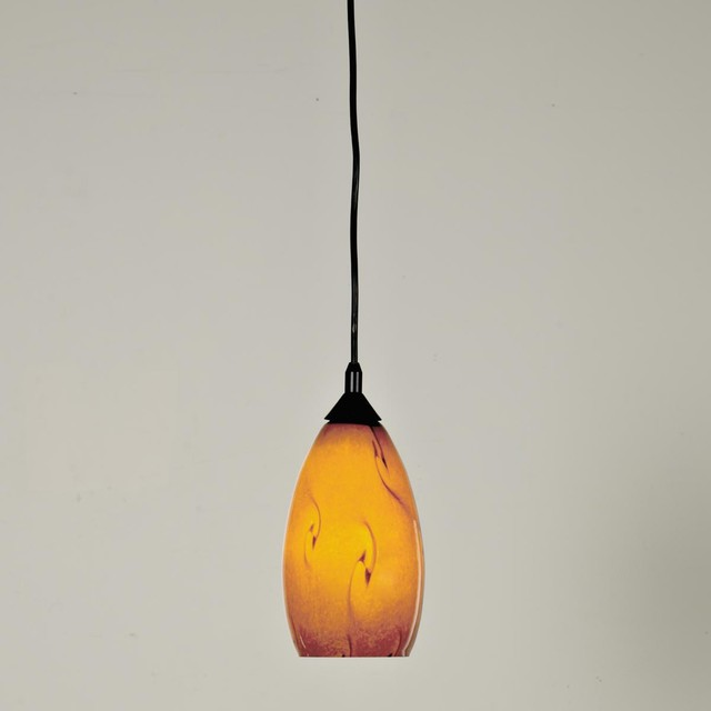 Organic Swirl Art Glass Pendant - Pendant Lighting - by Shades of ...