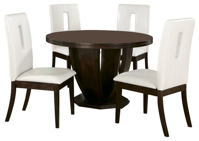 Homelegance Elmhurst 3 Piece Round Dining Room Set In Brown Cherry Traditio