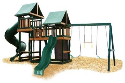 Congo Monkey Playsystem #3 with Swing Beam modern-kids-playsets-and-swing-sets