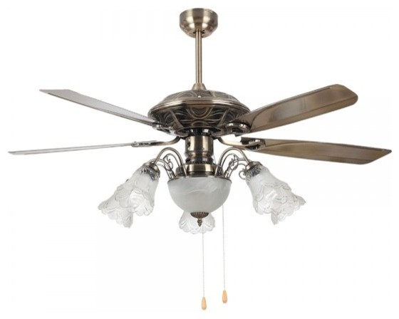 "... Room Bronze Ceiling Fan Light Fittings 52"" traditional-ceiling-fans"