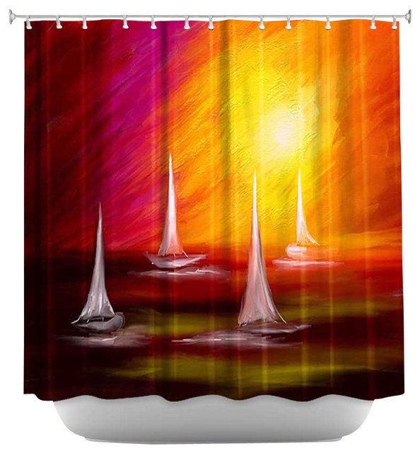 Shower Curtain Artistic - Sail Away contemporary-shower-curtains
