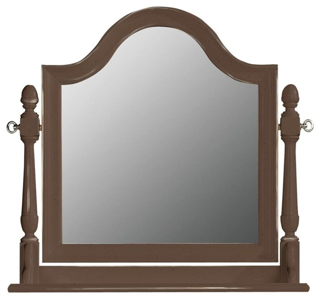 Tabitha Tilt Mirror - Chocolate Vintage Weathered Finish traditional-mirrors