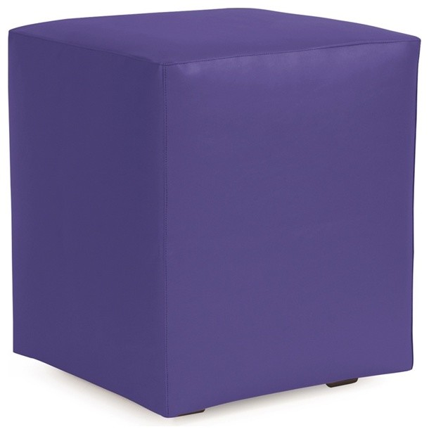 Howard Elliott Atlantis Purple Universal Cube Ottoman