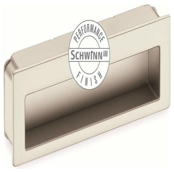 Schwinn Hardware Modern Flush Pull 4 Inch Satin Nickel Performance - Contemporary - Cabinet And ...