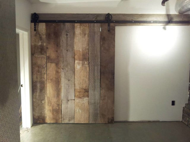 barn doors rustic basement toronto by rebarn