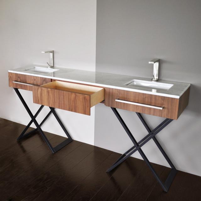 Double Bowl Vanity Tops For Bathrooms: Lacava Moda Double Bowl Vanity