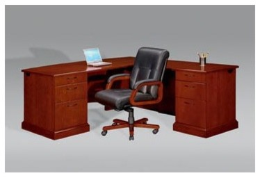 """Belmont Right Executive """"L"""" Desk with 6 Drawers modern-home-office-accessories"""