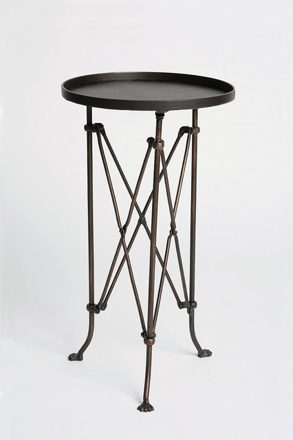 Metal Accordion Side Table eclectic-side-tables-and-end-tables