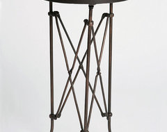 Metal Accordion Side Table eclectic-side-tables-and-accent-tables