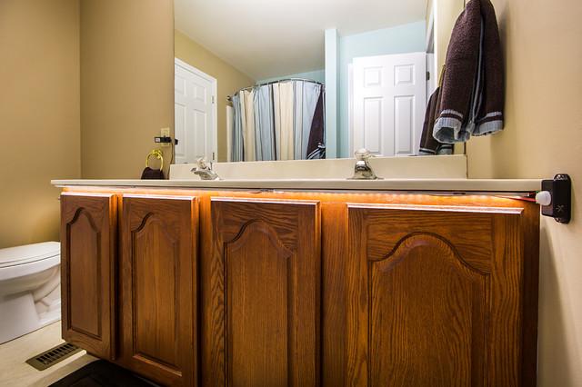 LED Bathroom Vanity Under Counter Lighting - Traditional ...