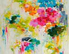 'Flower on Wall 01' Giclée Print contemporary-prints-and-posters