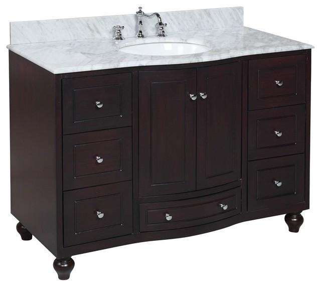 Palazzo 48-in Bath Vanity (Carrara/Espresso) transitional-bathroom-vanities-and-sink-consoles