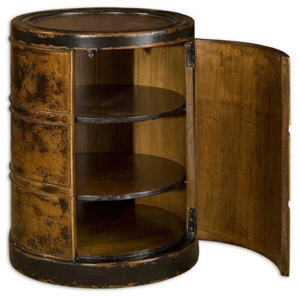 Uttermost Lawton Storage Drum Table modern bar tables