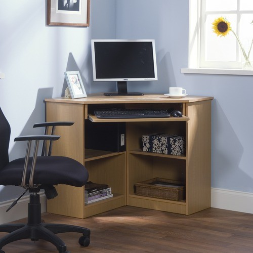 Oxford corner desk white