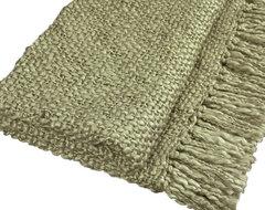 Surya Tobias Avocado Throw Blanket contemporary-throws
