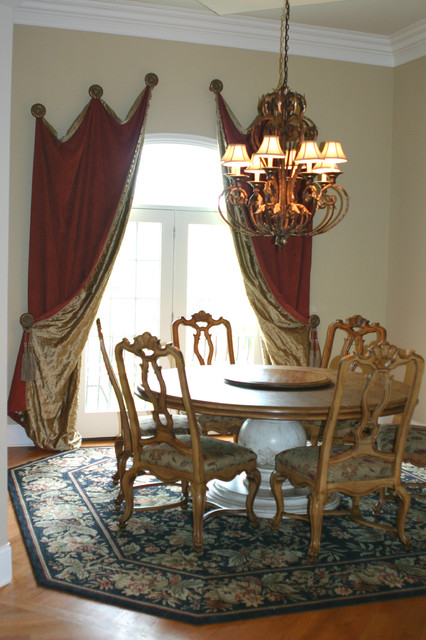 Off the Wall Interiors ~ Dressing an Eyebrow Arch traditional-window-treatments
