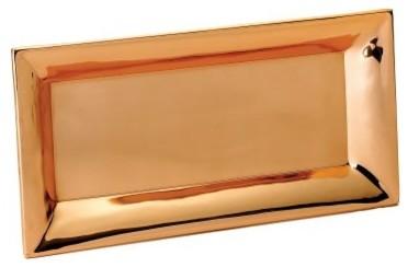 Old Dutch Heavy Gauge Decor Copper Rectangular Tray - 18 in. modern-platters