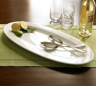 Great white fish platter traditional serving dishes for Fish serving platter