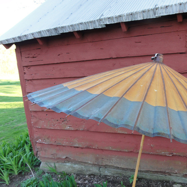 Leather Piped Parasol traditional-outdoor-umbrellas