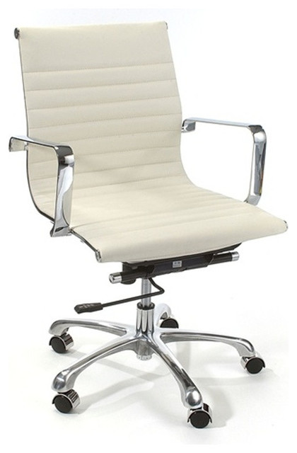 Eames Style Modern Conference Office Chair Mid Back White contemporary-task-chairs