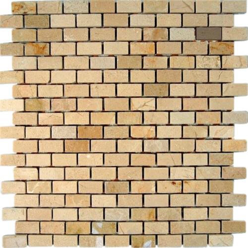 Crema Marfil 1/2 X 1  Classic Brick Pattern Marble Mosaic Tiles modern-tile