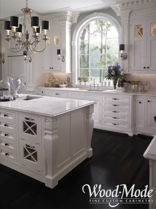 White Kitchen Carrara Marble Countertops