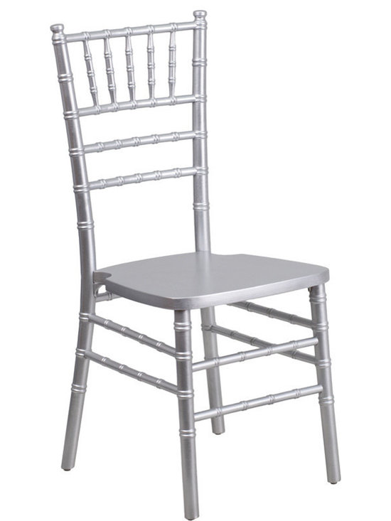 Flash Furniture - Flash Furniture Flash Elegance Silver Wood Chiavari Chair - If you've been to a wedding, chances are you've sat in a Chivalry chair. Chivalry Chairs have become a classic in the event industry and are also highly popular in high profile entertainment events. This chair is used in all types of elegant events due to its lightweight, stacking capabilities and elegant design. Keep your guests comfortable with optional cushions and keep your chairs beautiful with optional chair covers.