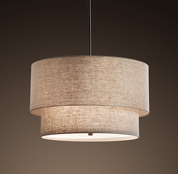 Two-Tier Round Shade Pendant contemporary-pendant-lighting