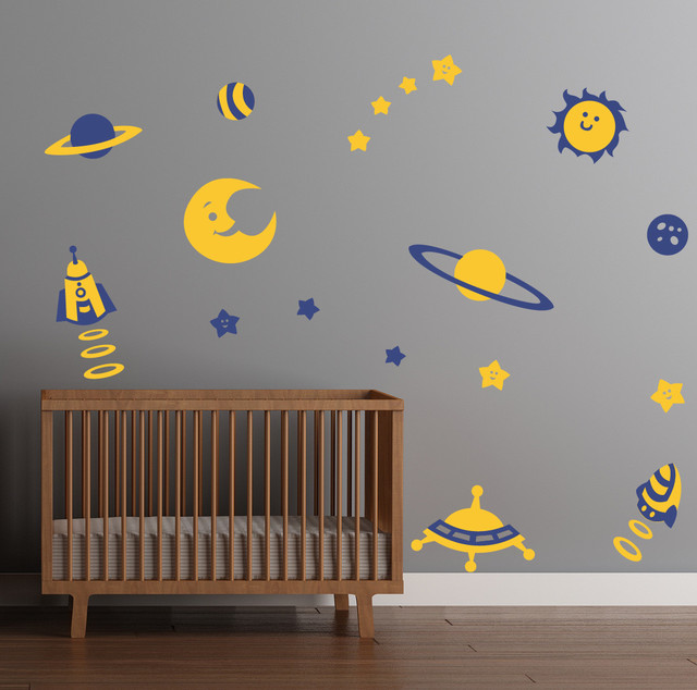 Space Theme Decal Stickers contemporary-wall-decals