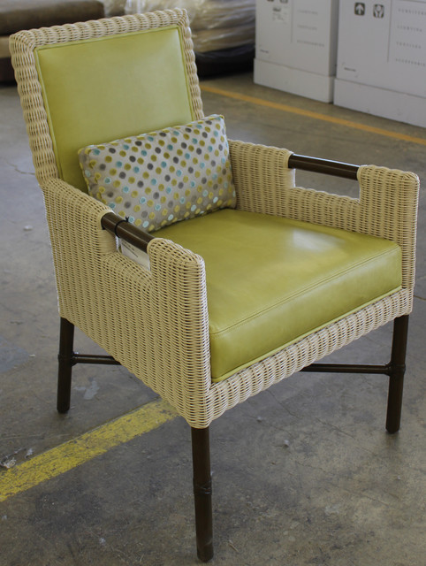 Thomas Pheasant Woven Core Dining Arm Chair: WS-404 traditional-living-room-chairs