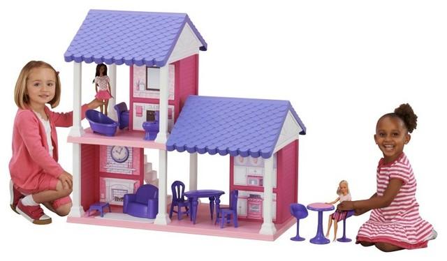 American Plastic Toys Fashion Doll Cozy Cottage Dollhouse Multicolor - 90730 - Contemporary ...