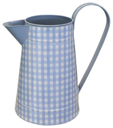 Blue Gingham Metal Jug eclectic kitchen products