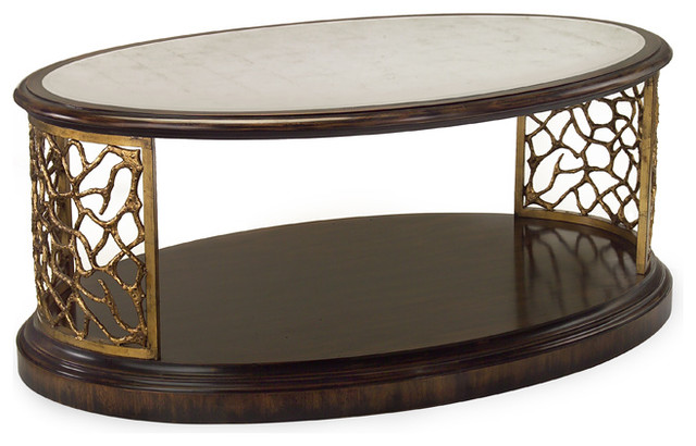 """John Richard 22.5""""H X 54""""W X 35""""D Twinings Cocktail Table contemporary-side-tables-and-end-tables"""